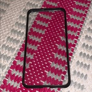 7 plus clear with black border iPhone case